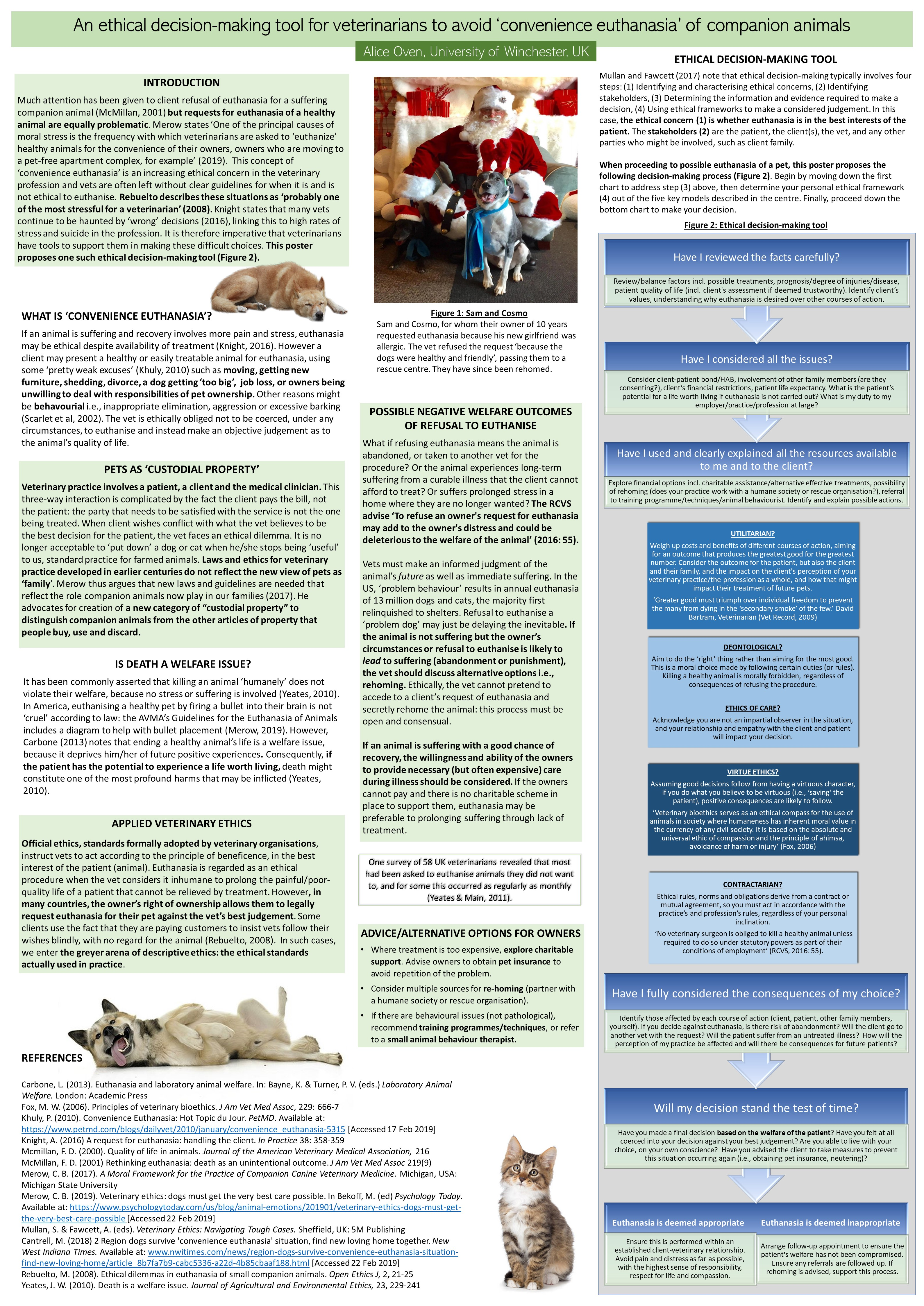 An ethical decision-making tool for veterinarians to avoid